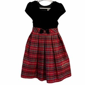 New Jona Michelle black and red plaid dress 4